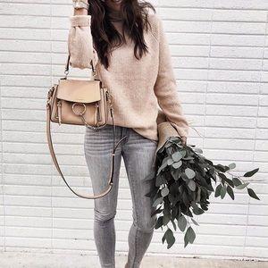 Topshop Raglan Turtleneck Sweater Size 4